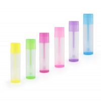 LIP BALM Tubes, Colored + Clear, Transparent