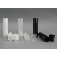 LIP BALM Tubes + Caps ( Clear / Black / White )
